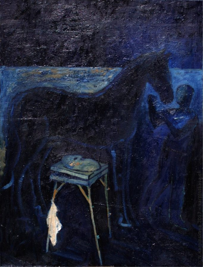 «Horse» 2011, oil on canvas, 80x60.