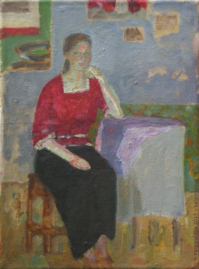 «Lena» 2002, oil on canvas, 40x30.