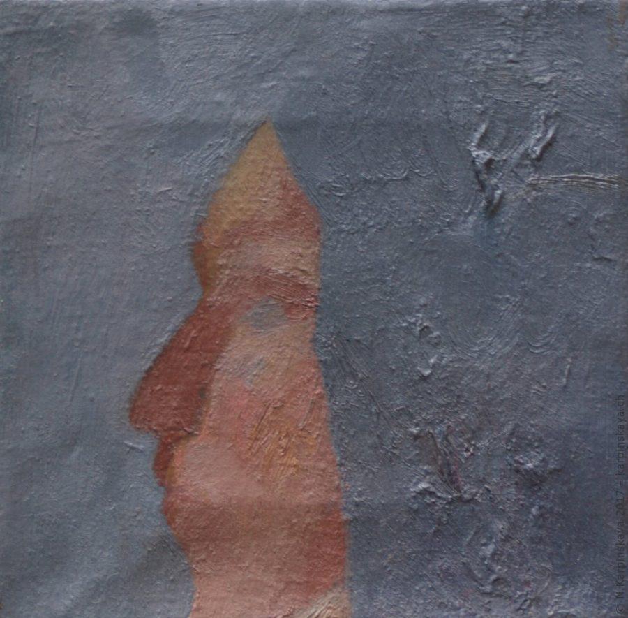 «Nastya» 2004, oil on canvas, 20x20.