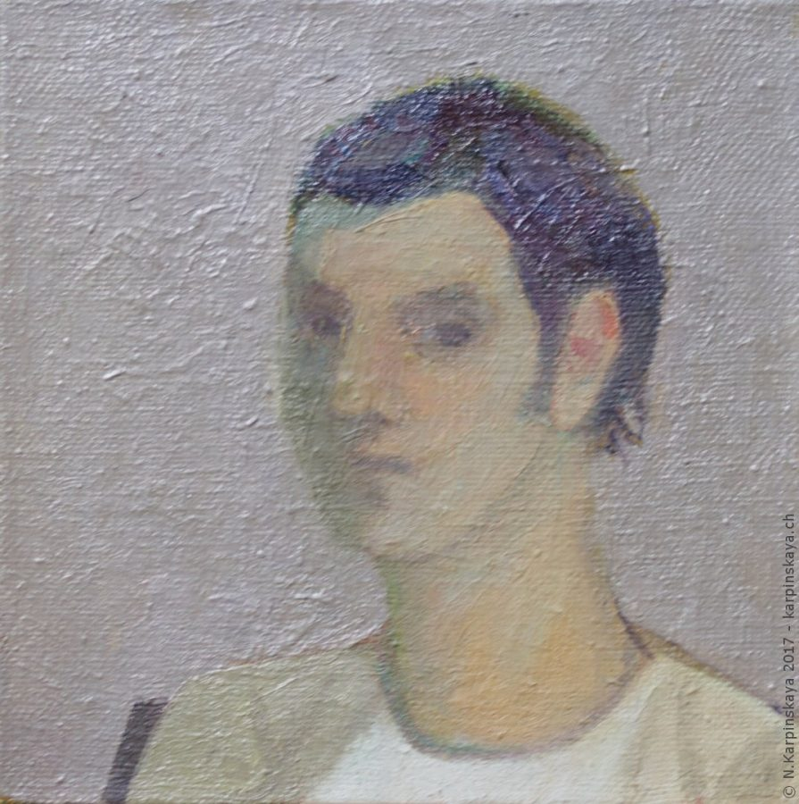 «Sergey» 2008, oil on canvas, 30x30.