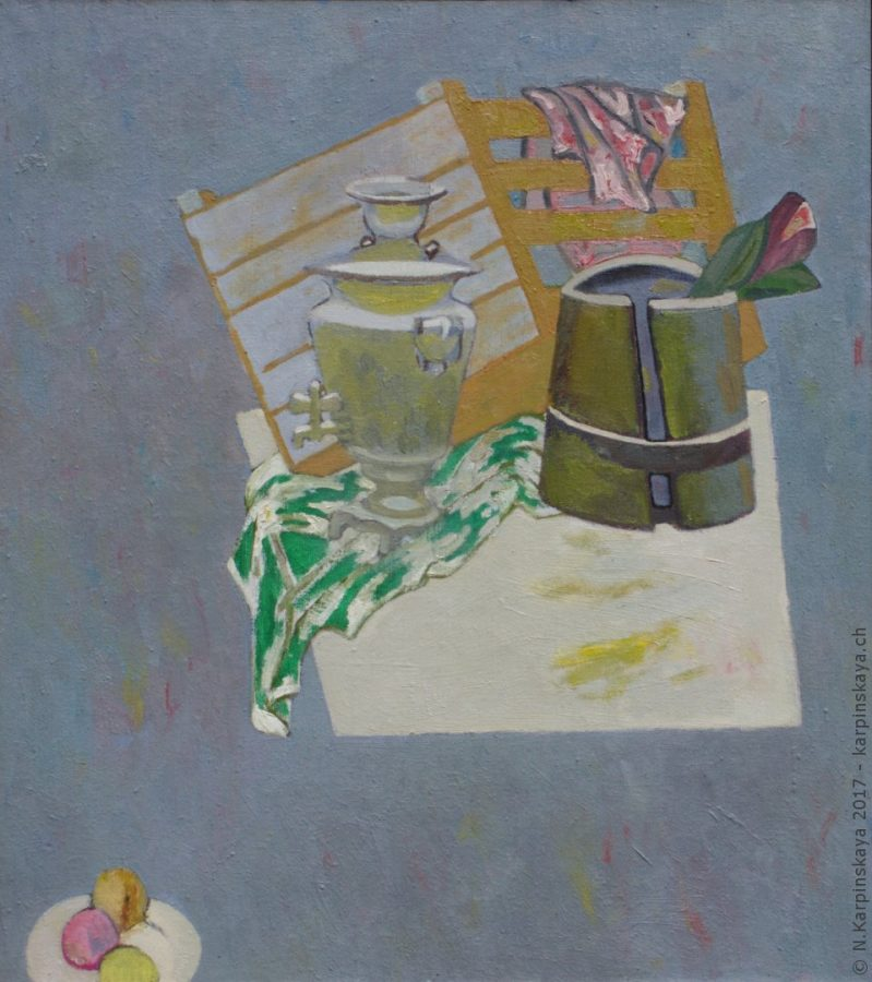 «Still life with box» 2003, oil on canvas, 90x80.