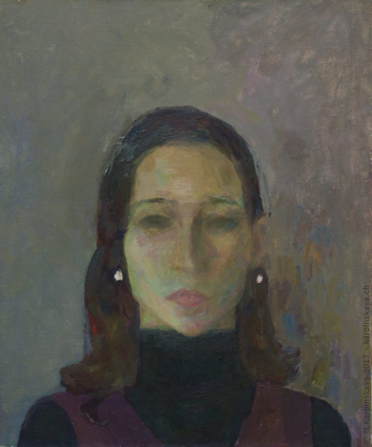 «Sveta» 2001, oil on canvas, 60x70.