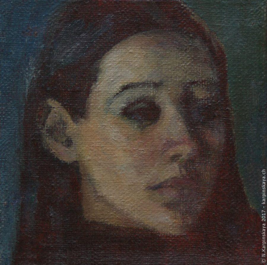 «Sveta» 2001, oil on canvas, 20x20.