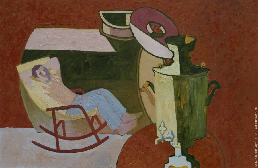«The tank» 2011, oil on canvas, 85x130.